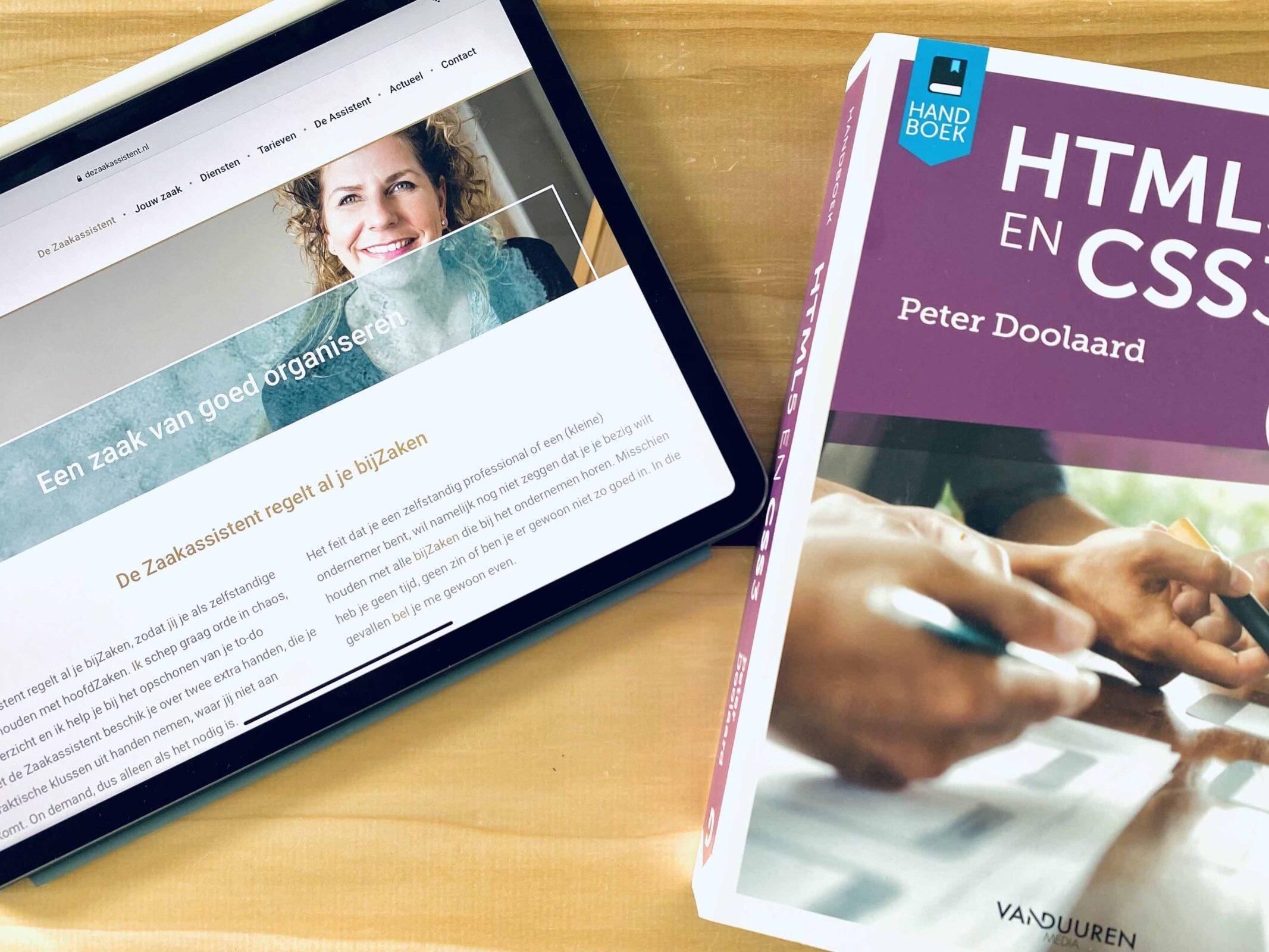 Zaakassistent HTML en CSS